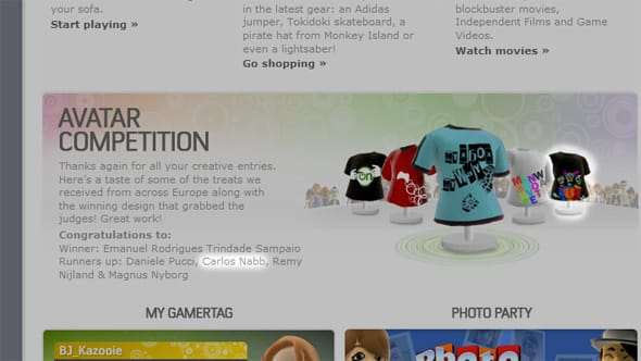 A screenshot of xbox.com featuring my T-shirt design