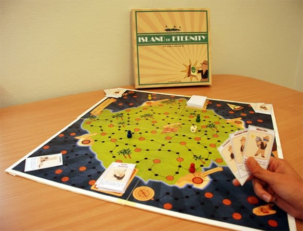An early prootype of Island of Eternity being played.