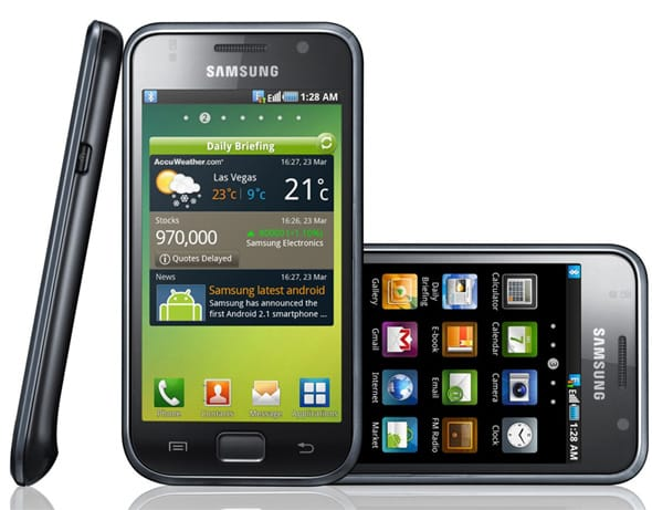 Promotional still showing the Samsung Galaxy S.