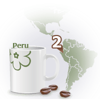 A map pointing a Peru.