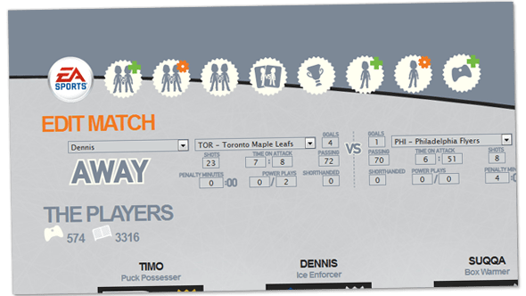 Screenshot illustrating the Edit Match view which allows players to edit a match.
