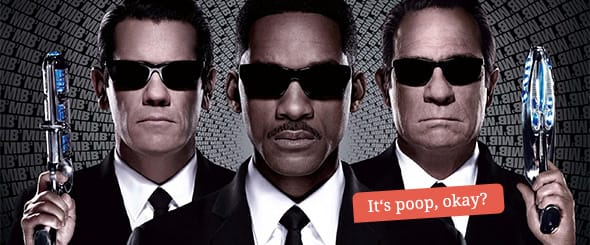 Josh Brolin as young Agent K, Tommy Lee Jones as present day Agent K and Will Smith as Agent J.