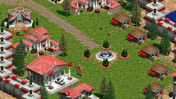 Screenshot from the Microsoft game Age of Empires.