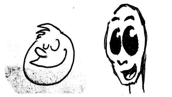 The first two loose sketches that inspired the idea in the first place.