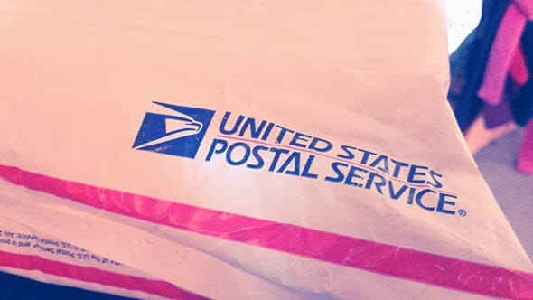 A mysterious package delivered by the United States Postal Service.
