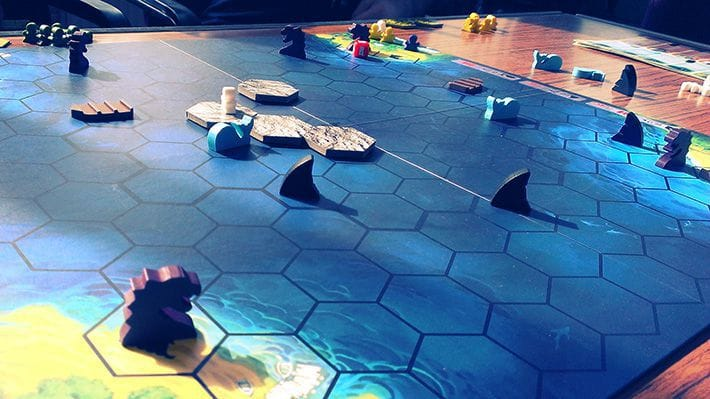 A session of Survive: Escape From Atlantis! being played