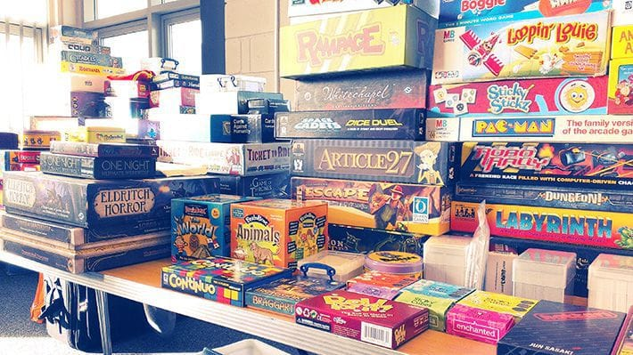 All the board games we had available