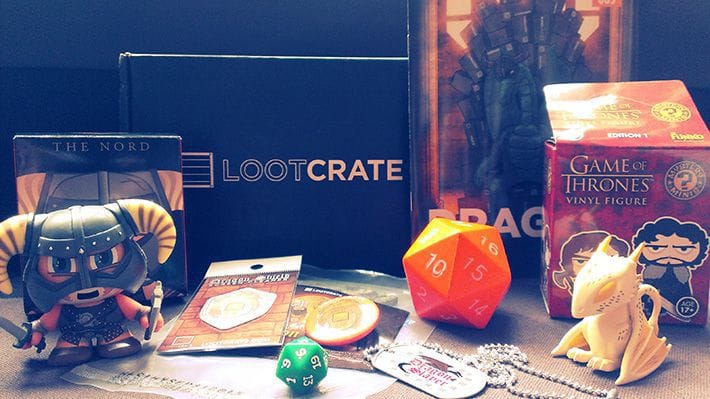 The content from Lootcrate, April 2014'