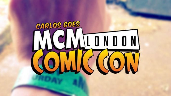 Blurred hand with Saturday entry wristband for MCM London Comic Con, 2014