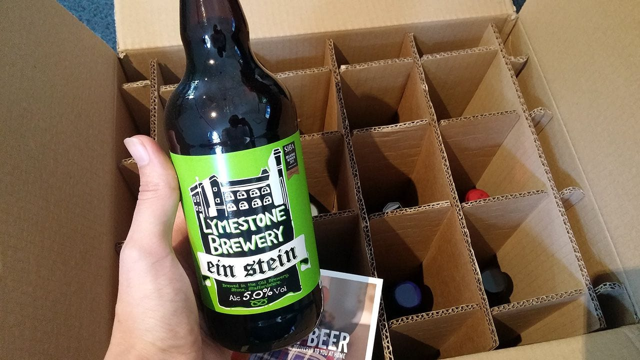 Unboxing the first delivery from Beerbods