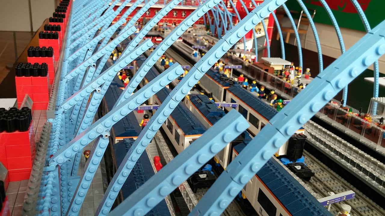 St. Pancras Station recreated using Lego.