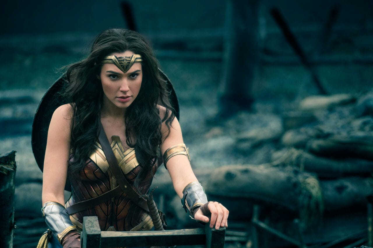 Wonder Woman (played by Gal Gadot) entering No Man's Land.